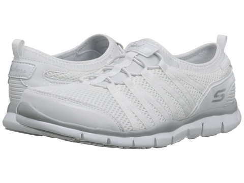 SKECHERS - Gratis 66 (White) Women's Lace up casual Shoes