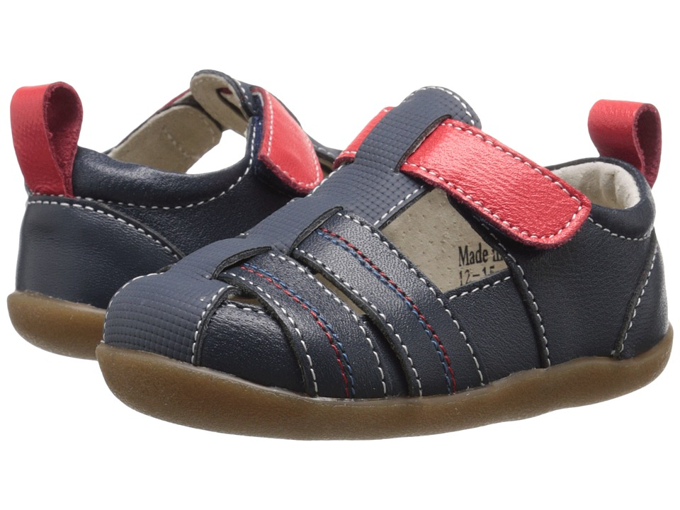 See Kai Run Kids - Caleb (Infant/Toddler) (Navy) Boy's Shoes