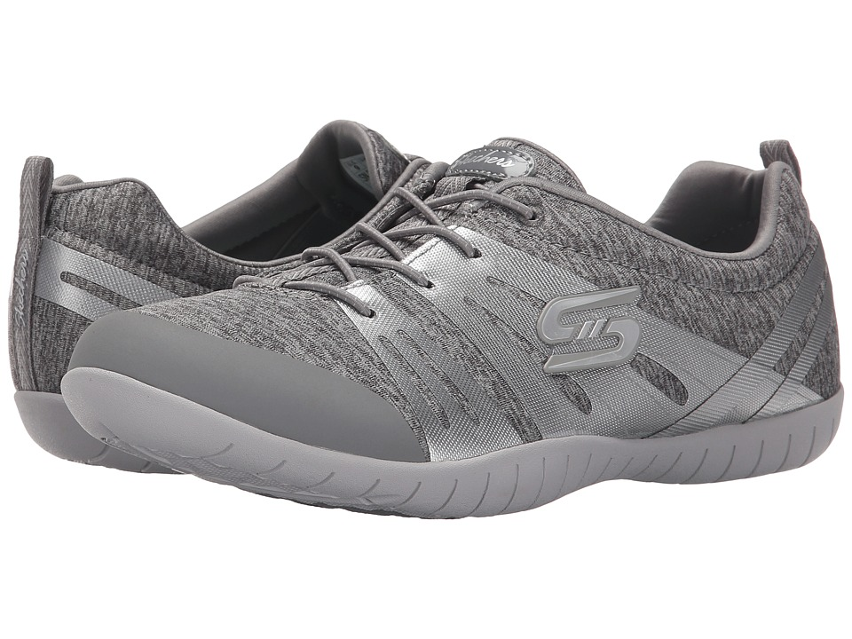 SKECHERS - Atomic - Fiery (Gray/Silver) Women's Lace up casual Shoes