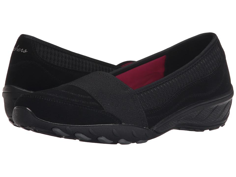 SKECHERS - Savvy (Black) Women's Slip on Shoes