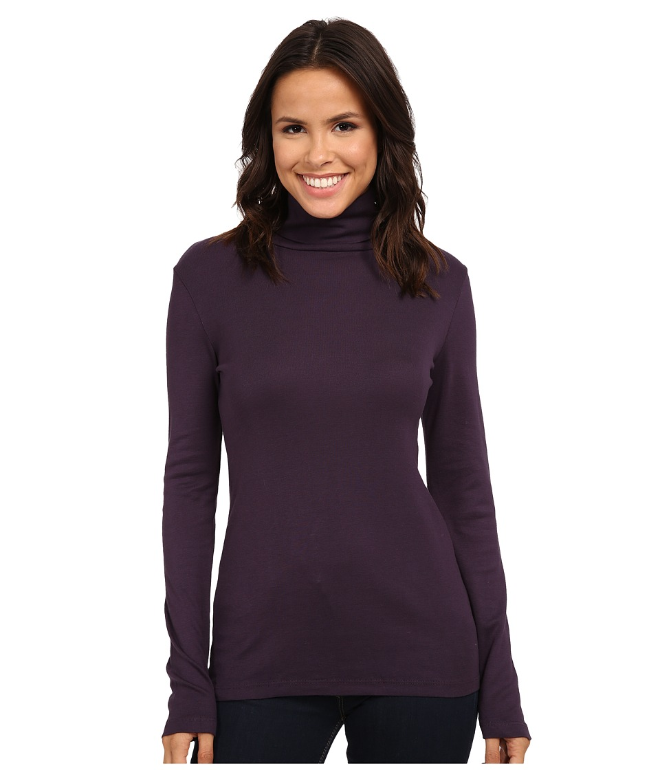 Splendid - 1x1 Long Sleeve Turtleneck (Plum Wine) Women's Long Sleeve Pullover