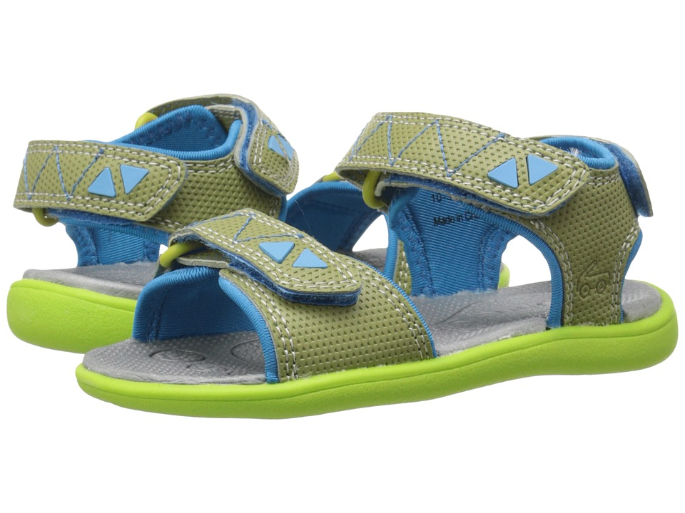 See Kai Run Kids - Jetty (Toddler) (Green) Boy's Shoes