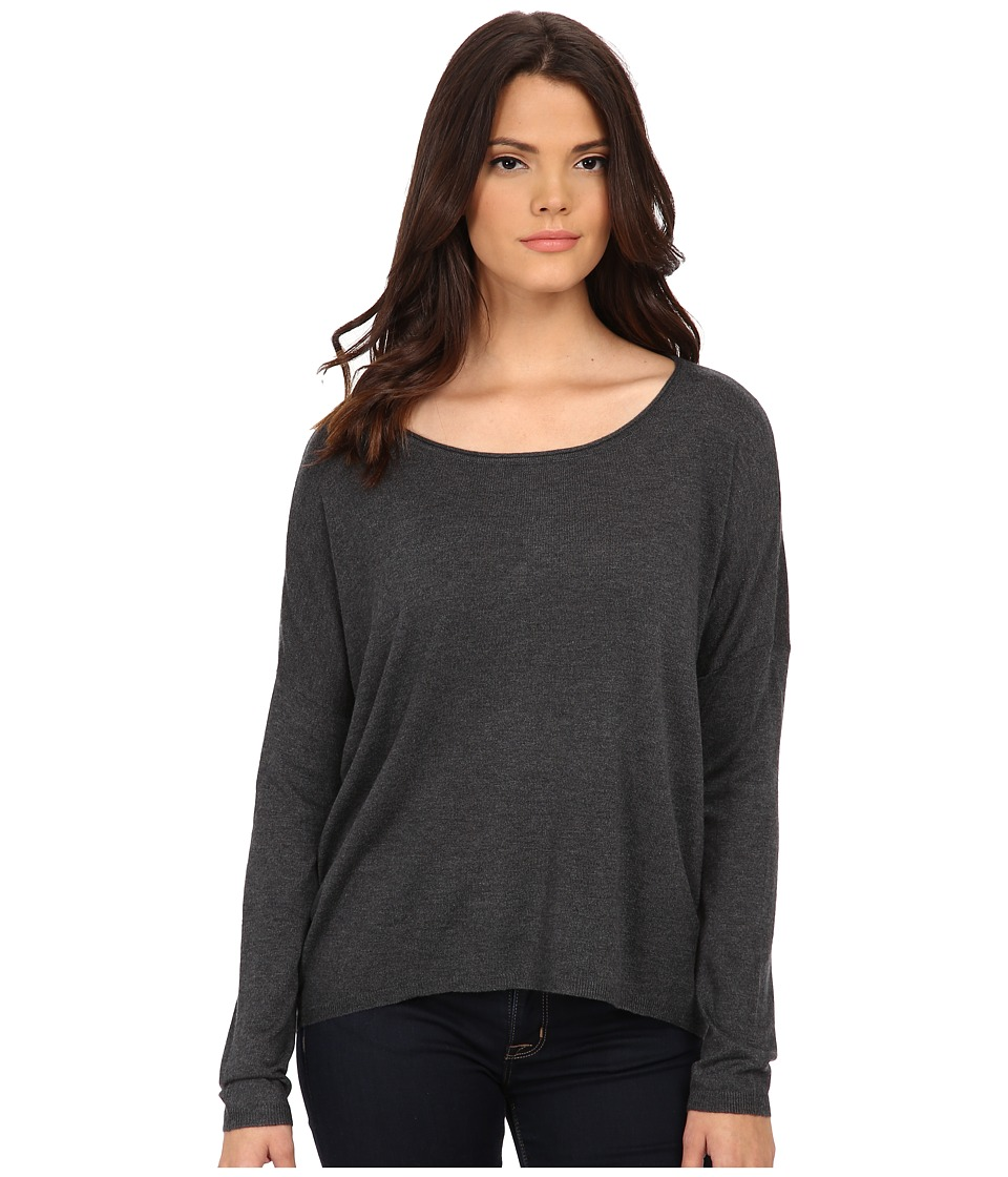 Splendid - Cashmere Blend Circle Sweater (Heather Charcoal) Women's Sweater