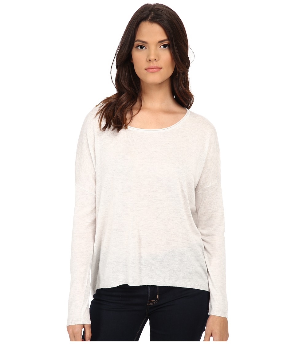 Splendid - Cashmere Blend Circle Sweater (Heather White) Women's Sweater