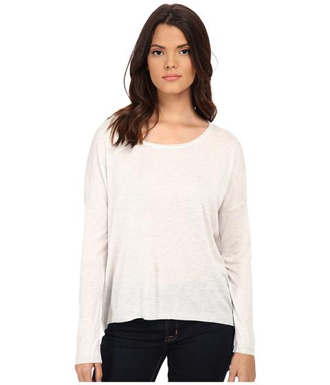 Splendid - Cashmere Blend Circle Sweater (Heather White) Women's Sweater