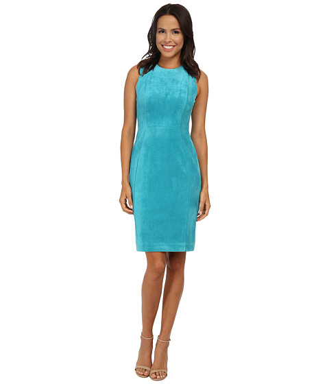 Calvin Klein - Suade Sheath (Lagoon) Women's Dress