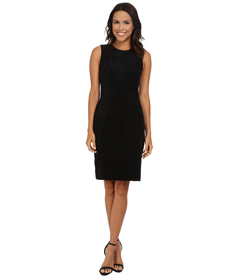 Calvin Klein - Suade Sheath (Black) Women's Dress