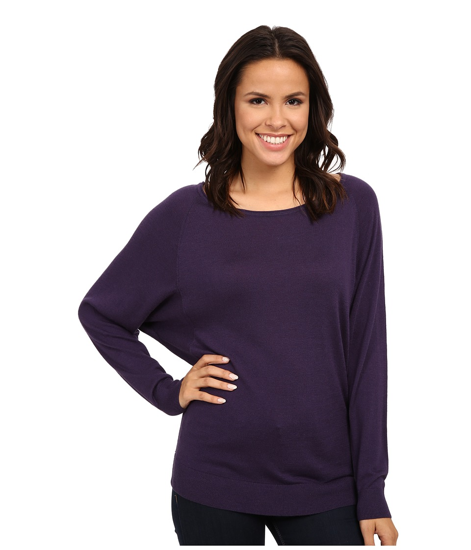 Splendid - Cashmere Blend Dolman Top (Plum Wine) Women's Long Sleeve Pullover