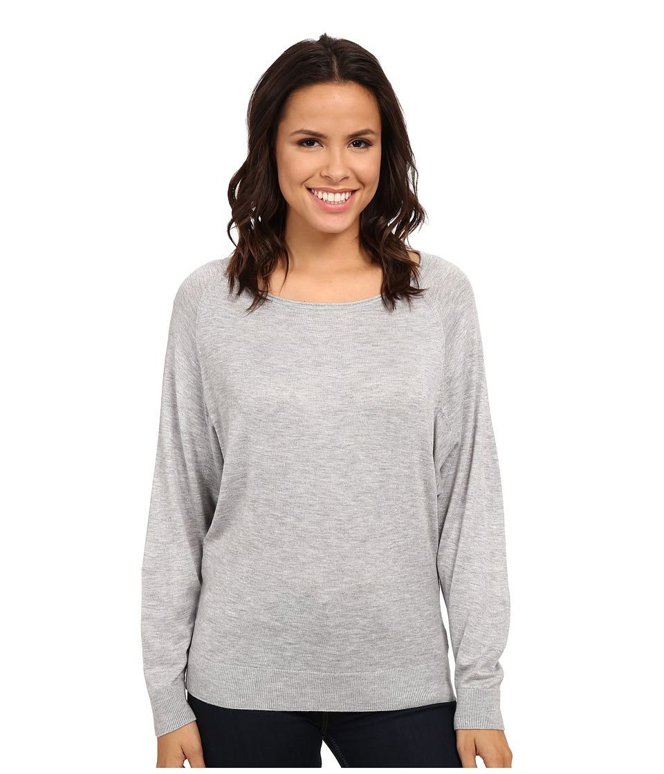Splendid - Cashmere Blend Dolman Top (Light Heather Grey) Women's Long Sleeve Pullover