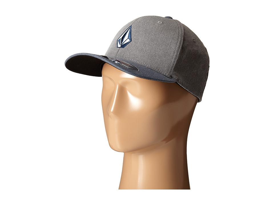Volcom - Full Stone Frabric XFit Flexfit Hat (Navy) Caps