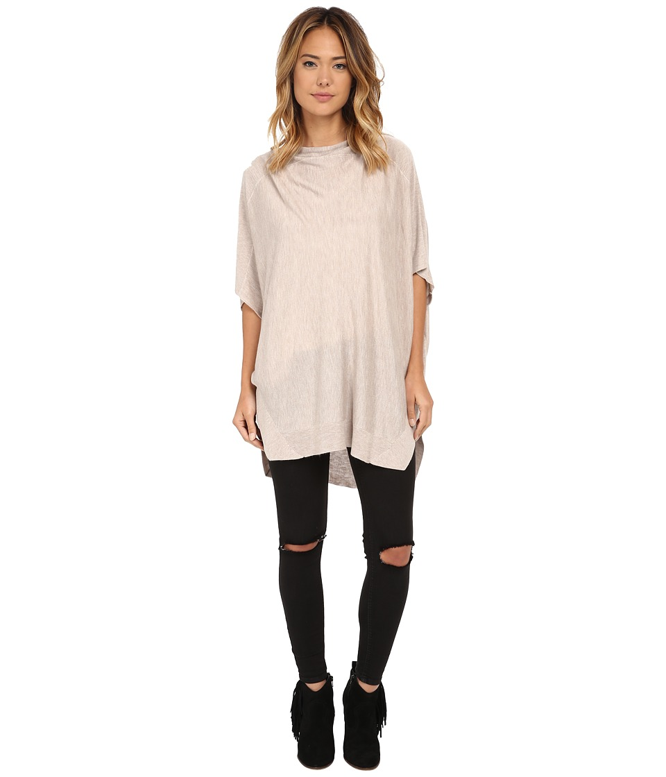 Splendid - Cashmere Blend Poncho (Heather Wheat) Women's Blouse