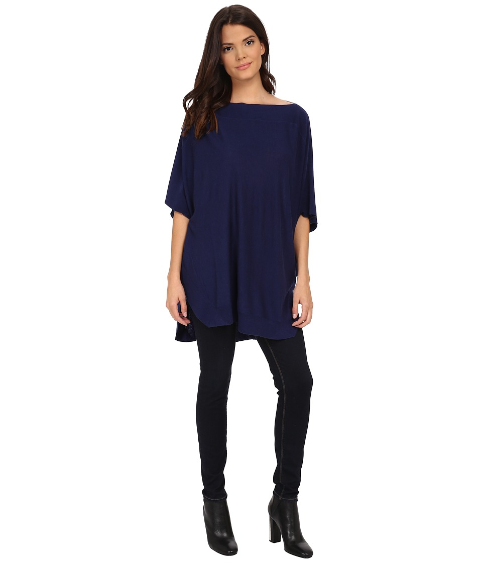 Splendid - Cashmere Blend Poncho (Navy) Women's Blouse