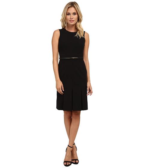 Calvin Klein - Sleeveless Fit Flare Dress (Black) Women