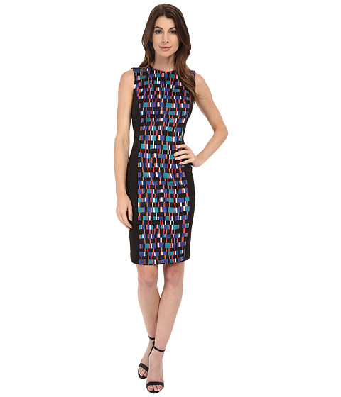 Calvin Klein - Sheath with Printed Center Panel (Lagoon Multi) Women's Dress