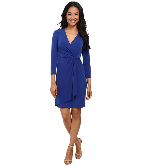 Calvin Klein - Wrap Dress with Hardware Detail (Atlantis) Women's Dress