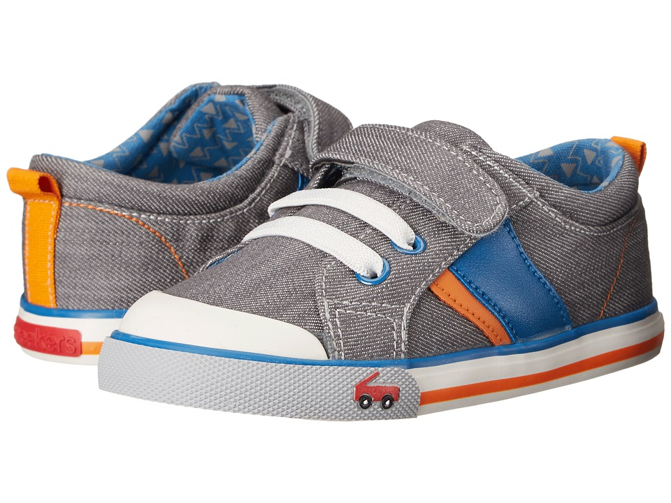 See Kai Run Kids - Sammi (Toddler) (Gray 1) Boy's Shoes