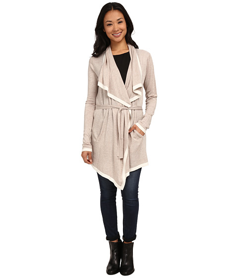 Splendid - Chalet Draped Belted Cardigan (Heather Wheat/Natural) Women's Sweater