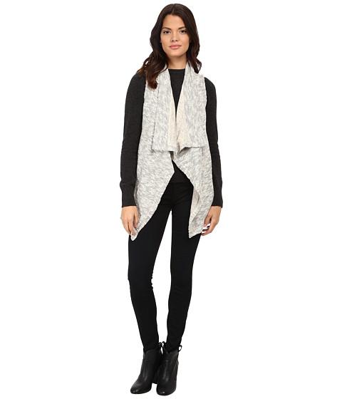Splendid - Chalet Mixed Media Vest (Heather Natural) Women's Vest
