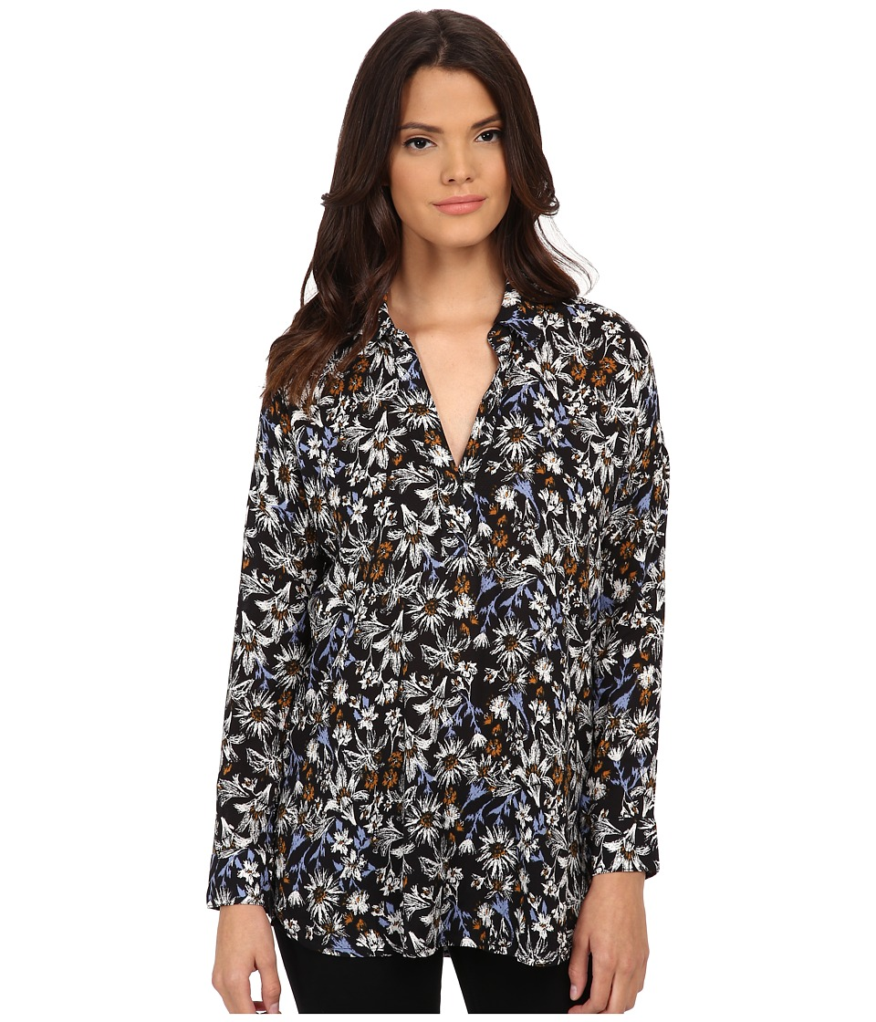Splendid - Cedarwood Floral Tunic (Black) Women's Blouse