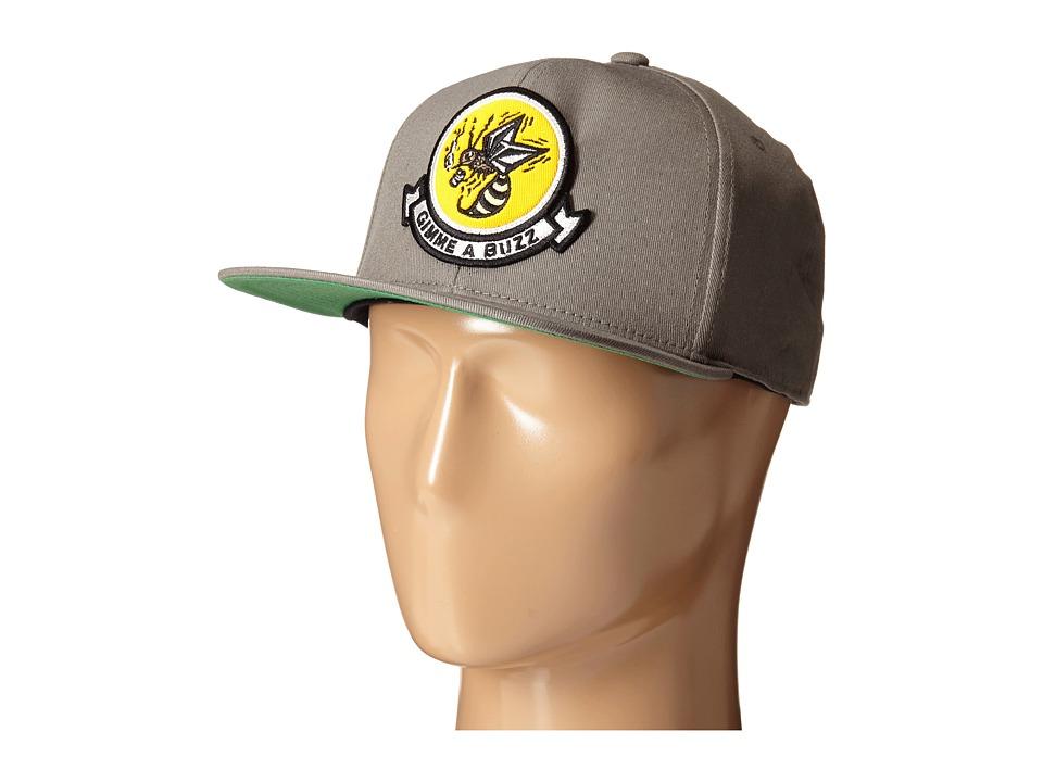 Volcom - Buzz 110F Adjustable Hat (Dark Grey) Caps