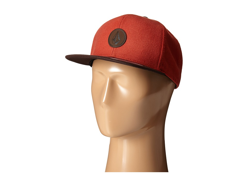 Volcom - Quarter Fabric Panel Hat (Why Rock Red) Caps