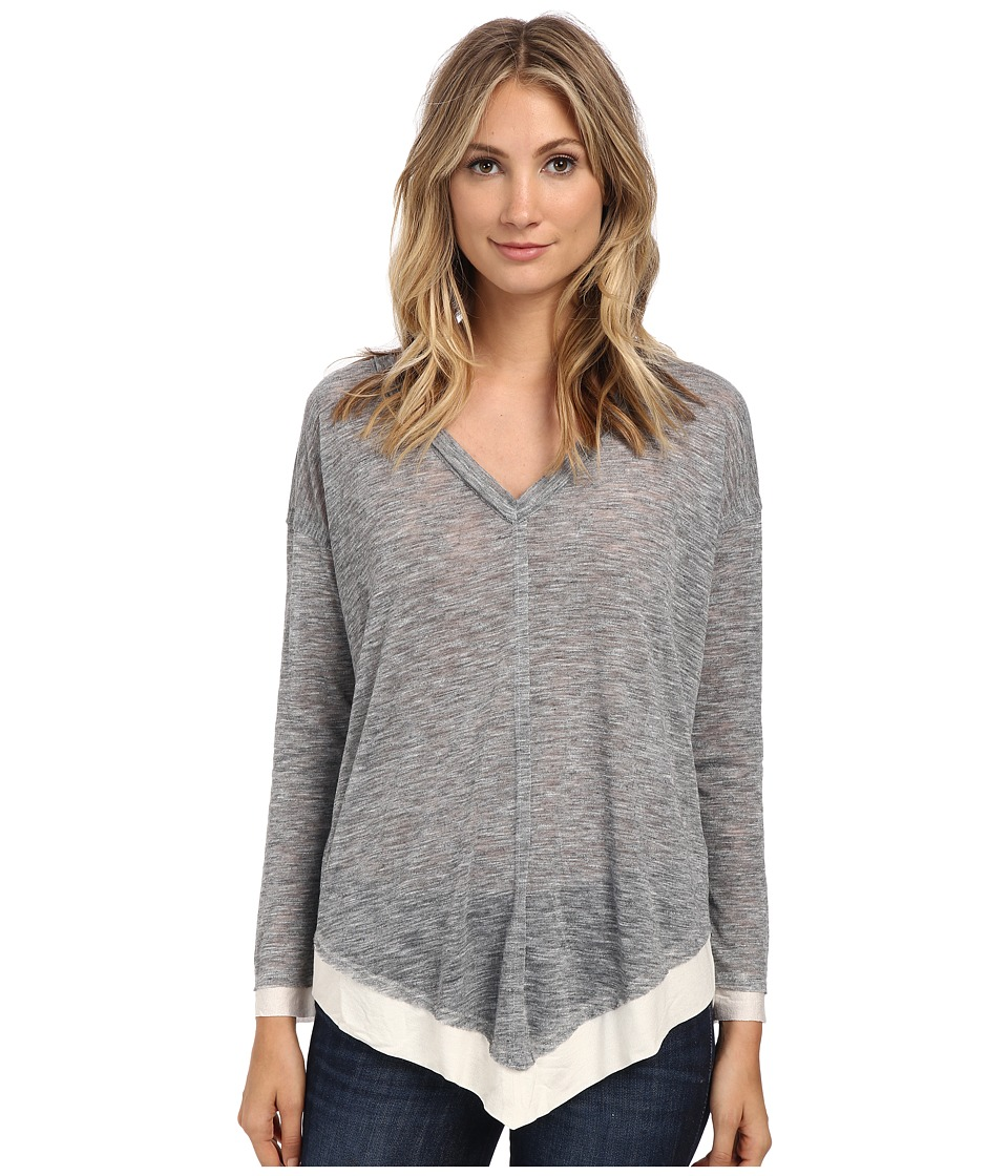 Splendid - Cozy Melange Tunic (Heather Grey) Women's Blouse