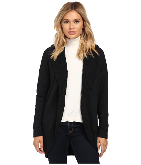Splendid - Faux Sherpa Cardigan (Black) Women