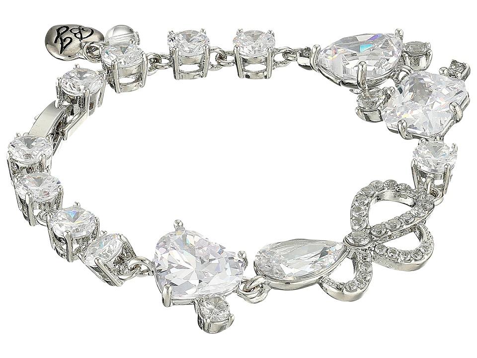Betsey Johnson - CZ Rhinestone Stretch Bracelet (Crystal) Bracelet