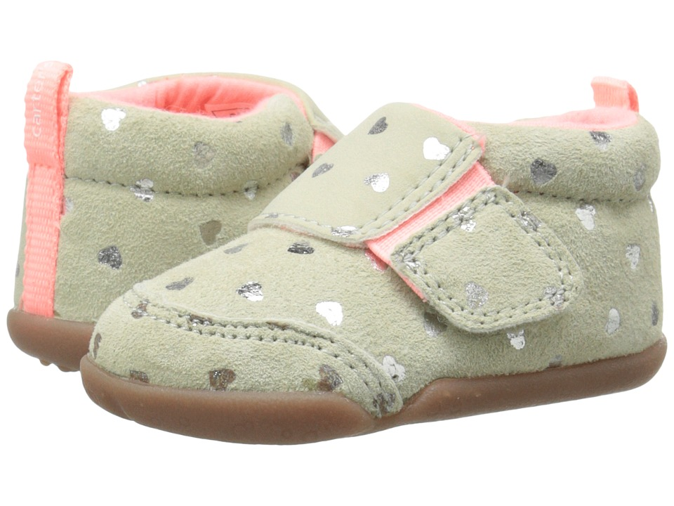 Carters - Christy-P3 (Infant/Toddler) (Grey/Silver) Girl's Shoes