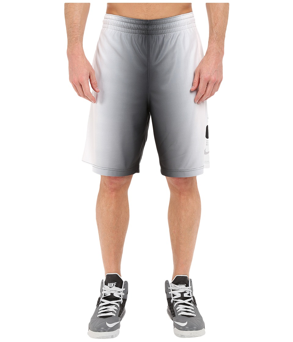 Nike - Elite Stripe Plus Basketball Short (Black/White/Wolf Grey/Metallic Silver) Men's Shorts