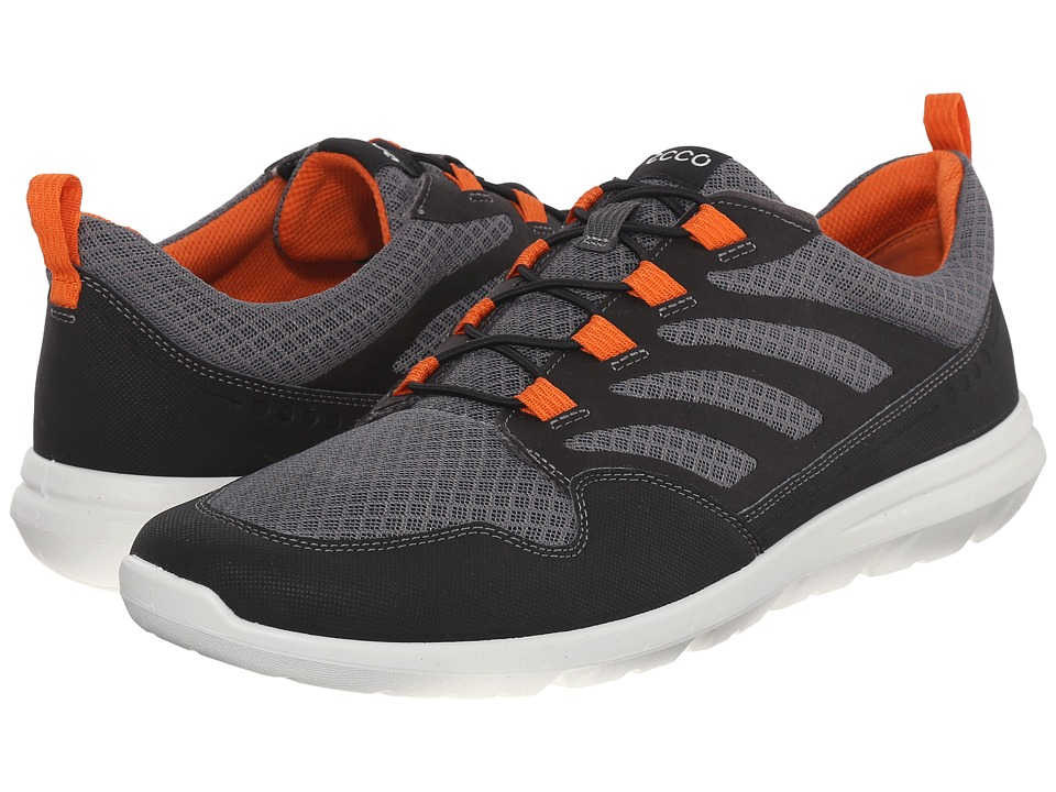 ECCO Sport - Calgary Sneaker (Black/Titanium/Orange) Men's Shoes