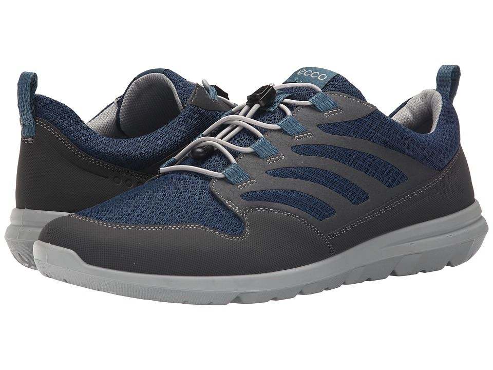 ECCO Sport - Calgary Sneaker (Dark Shadow/Denim Blue/Black) Men's Shoes
