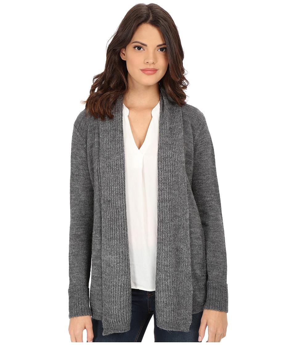 Splendid - Lurex Rib Cardigan (Heather Cinder/Silver) Women's Sweater