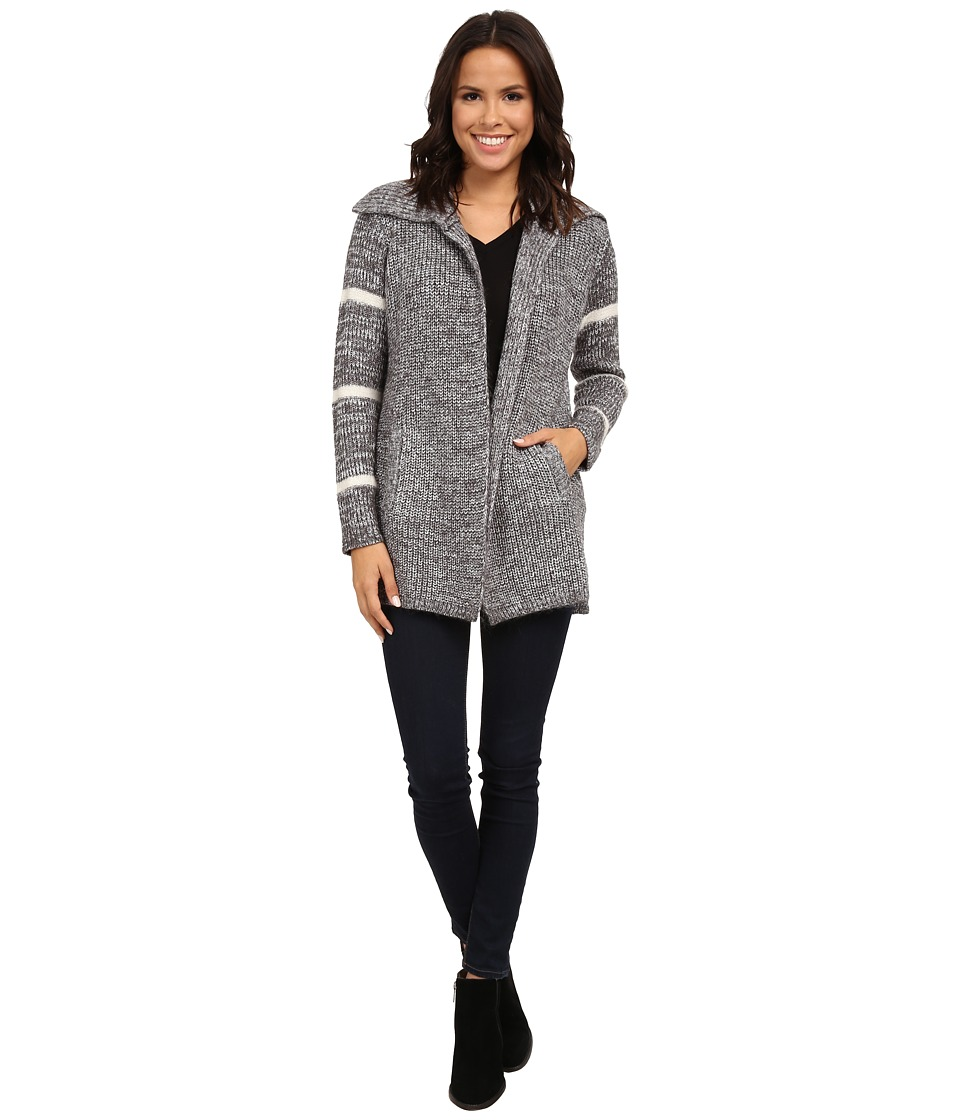 Splendid - Marled Stripe Cardigan (Heather Cinder) Women's Sweater