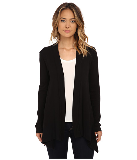 Splendid - Thermal Cardigan (Black) Women