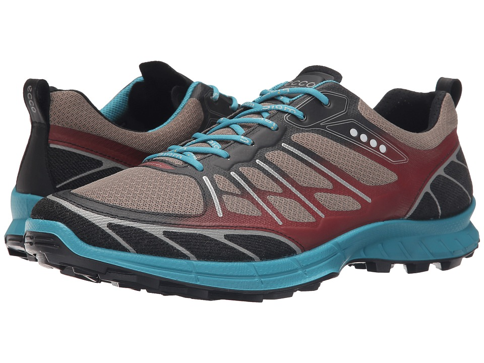 ECCO Sport - Biom Trail Sport (Black/Warm Grey/Pagoda Blue) Men's Running Shoes