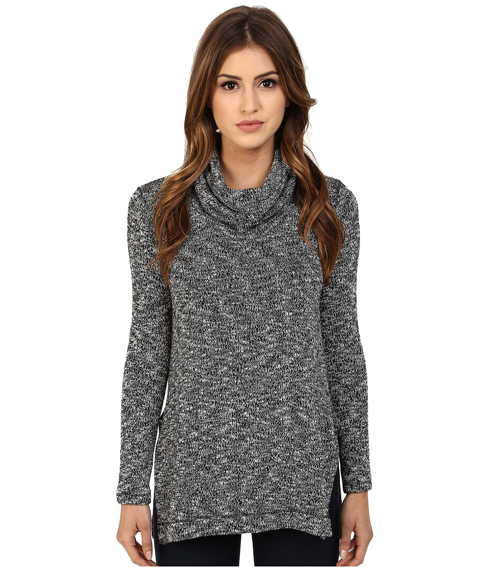 Splendid - Lake Front Loose Knit Tunic (Black) Women's Blouse