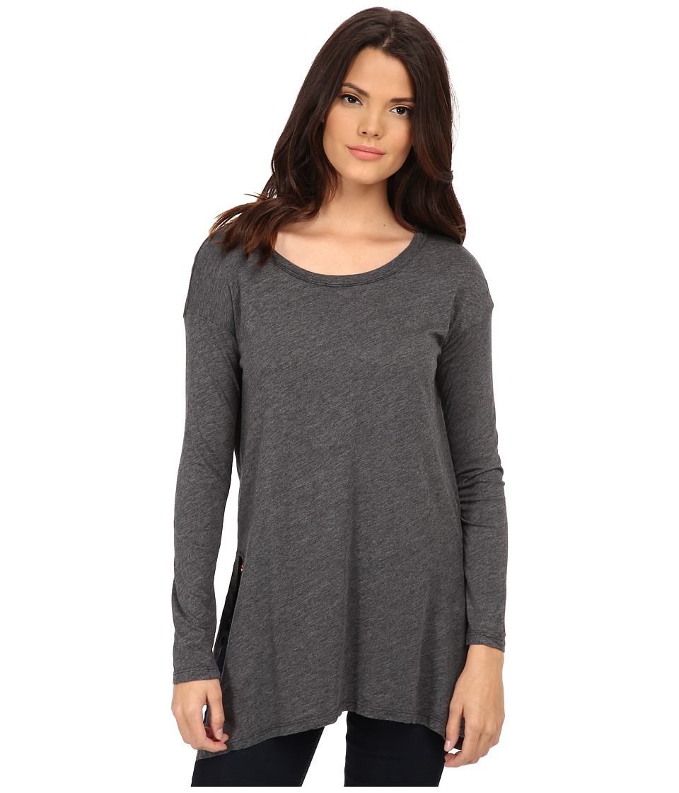 Splendid - Slub Jersey Tunic (Charcoal) Women's Blouse