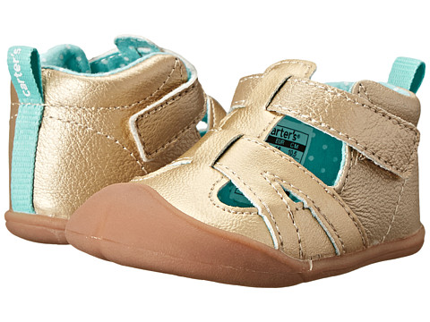 Carters - Artemis-P2 (Infant) (Gold/Light Green) Girl's Shoes