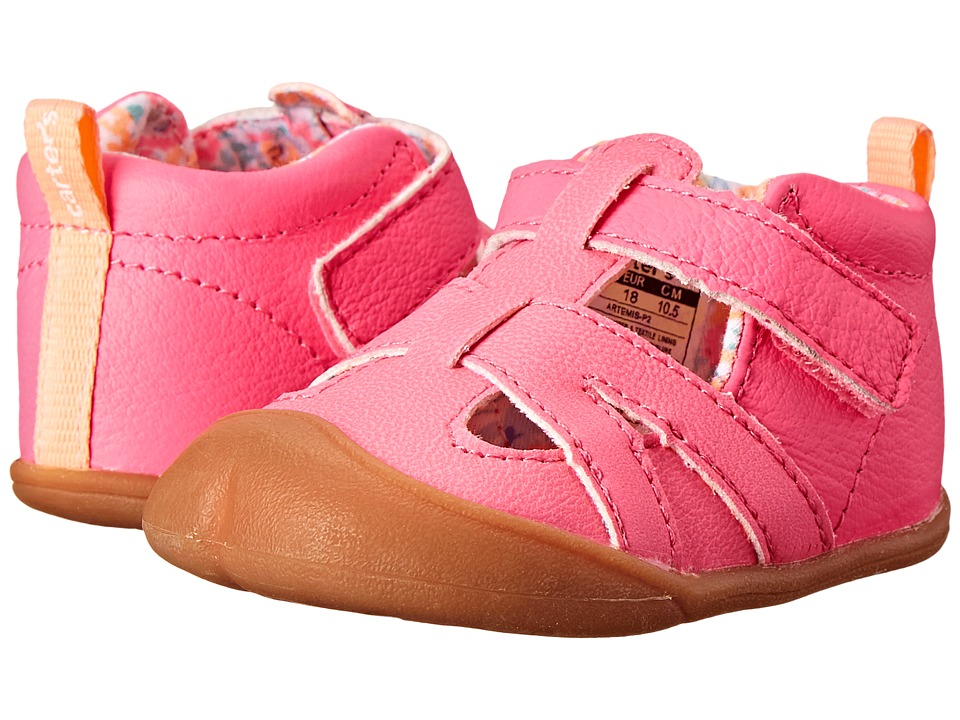 Carters - Artemis-P2 (Infant) (Neon Pink/Flower) Girl's Shoes