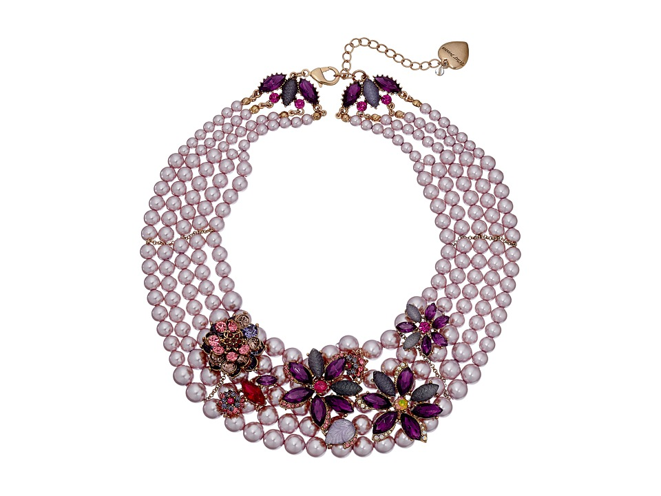 Betsey Johnson - Fall Follies Pearl Bib Necklace (Multi) Necklace