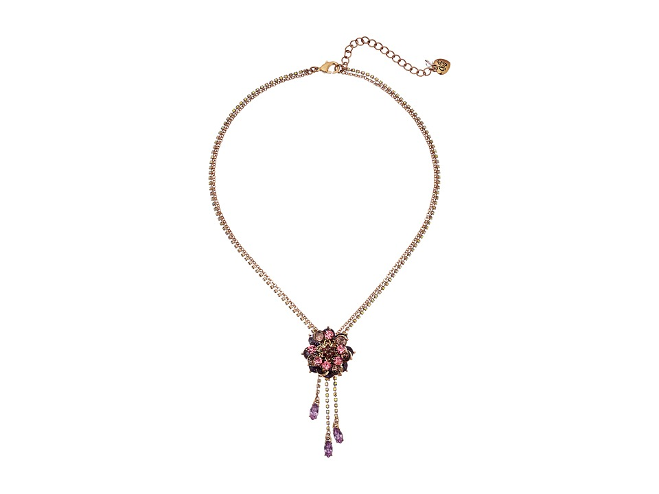 Betsey Johnson - Fall Follies Flower Pendant Necklace (Multi) Necklace