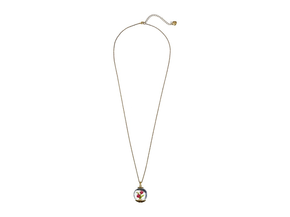 Betsey Johnson - Bauble Flower Pendant Necklace (Multi) Necklace
