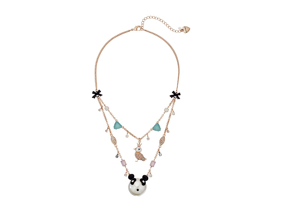Betsey Johnson - Pearl Critters Bird Illusion Necklace (Pearl) Necklace