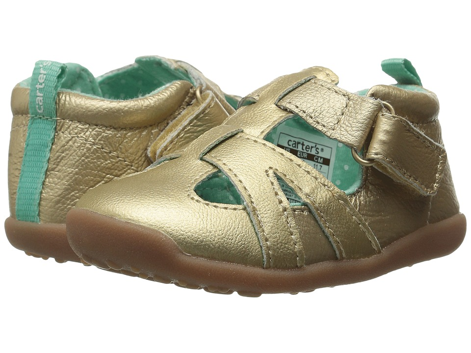 Carters - Clio-P2 (Toddler) (Gold/Light Green) Girl's Shoes