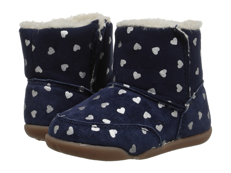 Carters - Bucket-GS (Infant/Toddler) (Navy/Silver) Girl's Shoes
