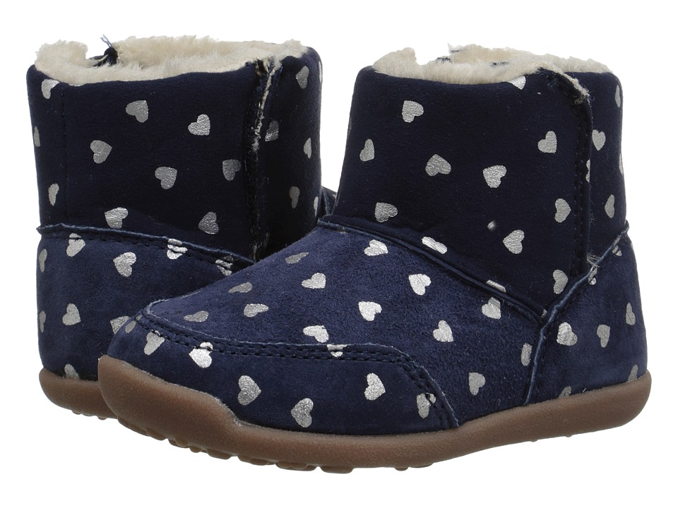 Carters - Bucket-GW (Toddler) (Navy/Silver) Girl's Shoes