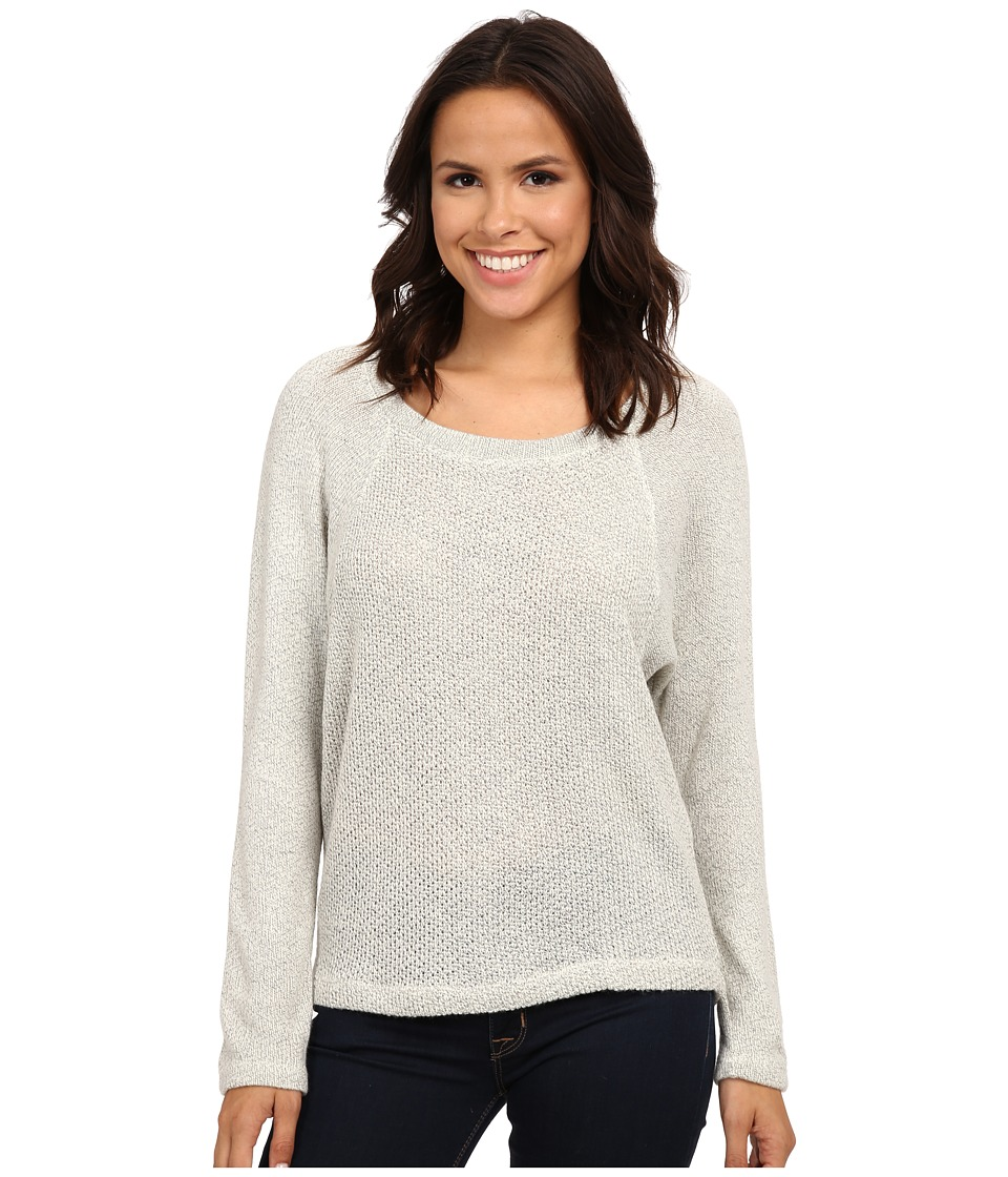 Splendid - Whistler Loose Knit Pullover (Heather White) Women's Short Sleeve Pullover