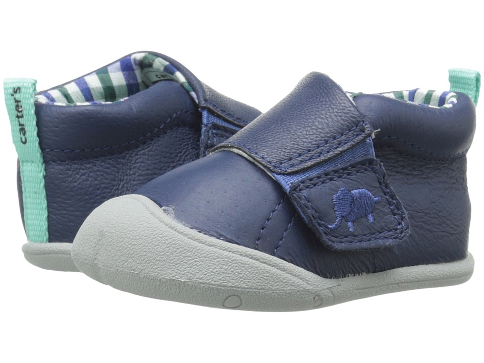 Carters - Every Step Andy Stage 1 (Navy/Plaid) Boy's Shoes