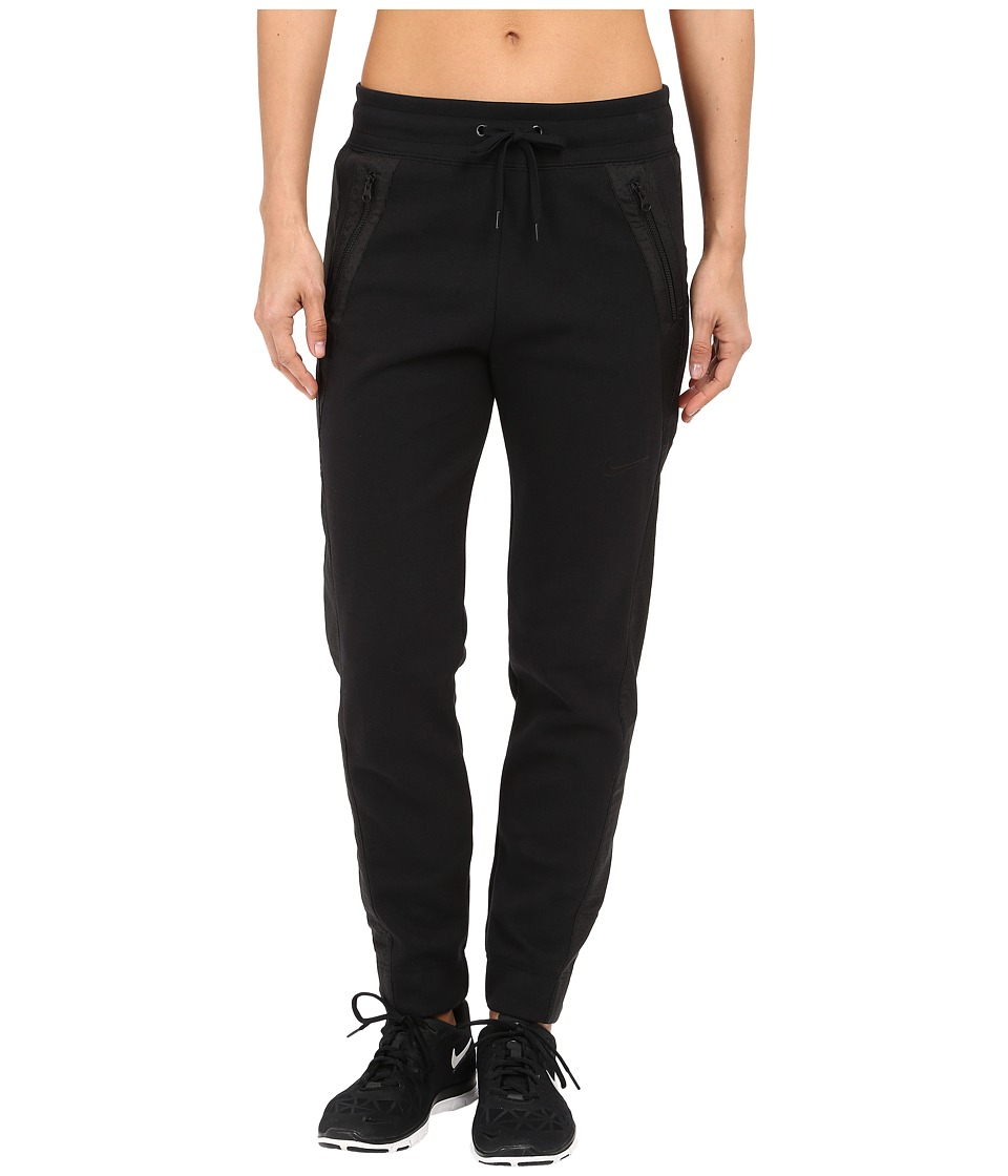Nike - Advance 15 Fleece Pants (Black/Black/Black/Black) Women's Casual Pants